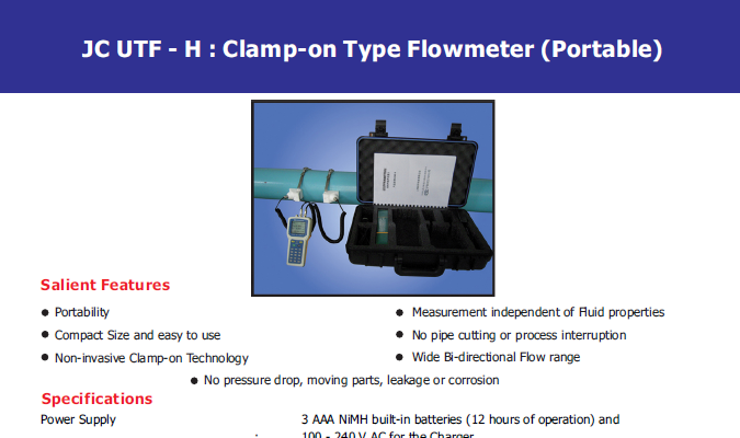 clamp-on-type-flow-meter-catalogue