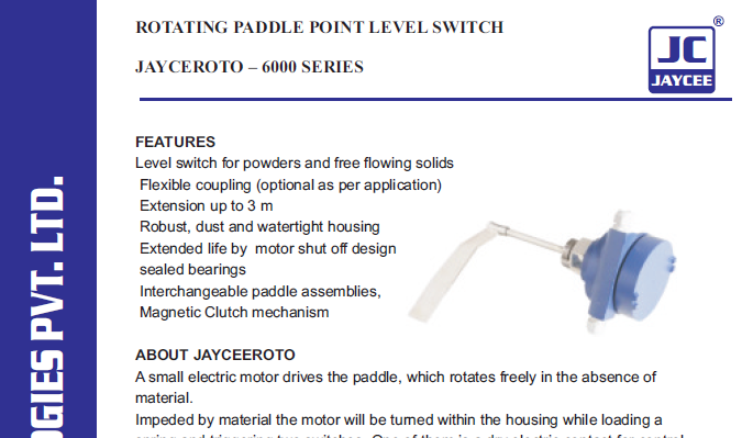 rotating-paddle-point-level-switch